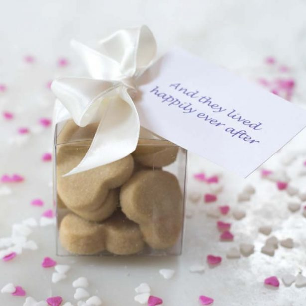 Wedding Shortbread Heart Cubes