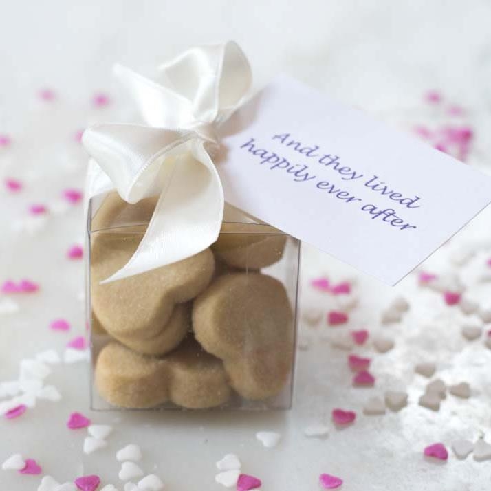 Wedding Shortbread Heart Cubes