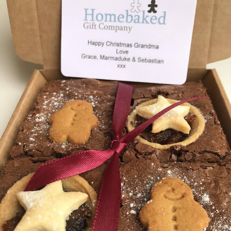 Christmas Brownie Gift Box