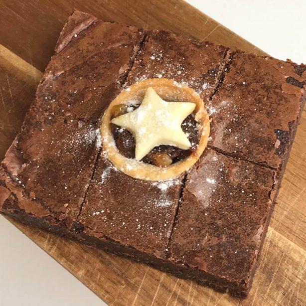 6 Mini Mince Pie Brownies Gift Box